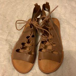 American Eagle Tan Strappy Sandals